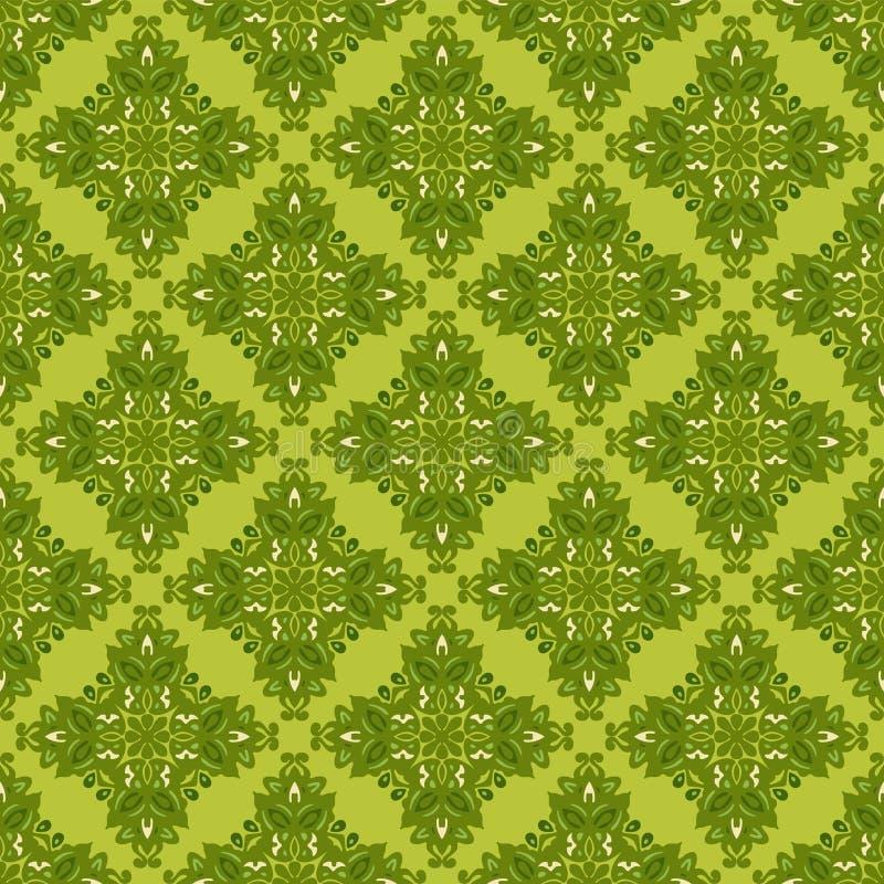Πράσινο άνευ ραφής περικάλυμμα δώρων υποβάθρου απεικόνιση αποθεμάτων