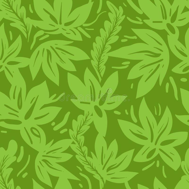 Πράσινο άνευ ραφής πρότυπο απεικόνιση αποθεμάτων
