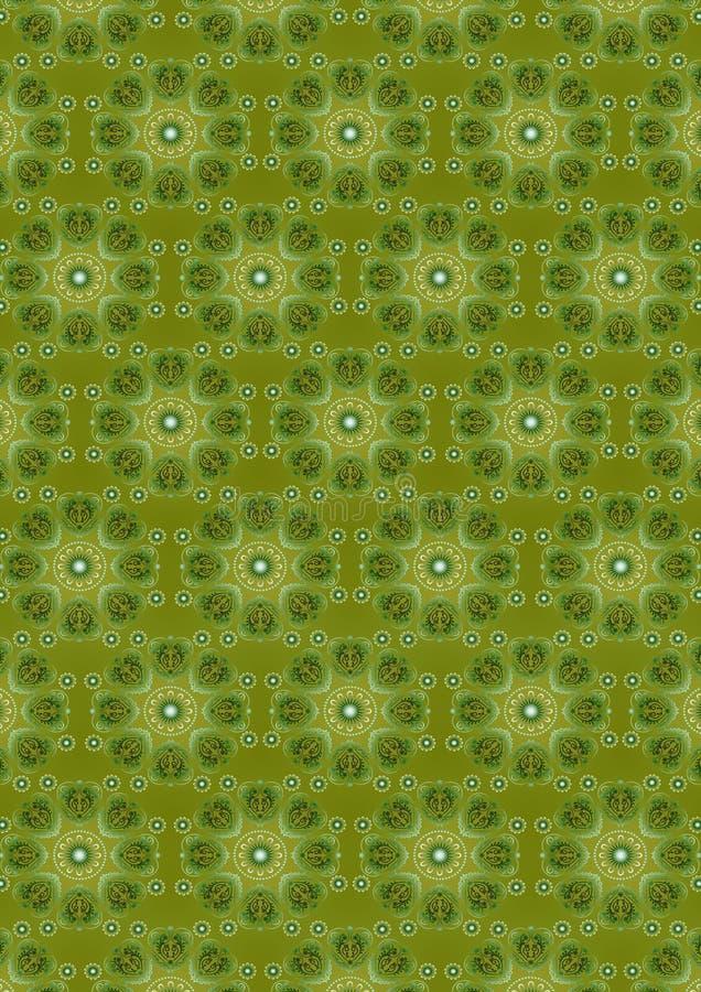 Πράσινο άνευ ραφής υπόβαθρο με μια ωοειδή εκλεκτής ποιότητας πράσινη διακόσμηση διανυσματική απεικόνιση