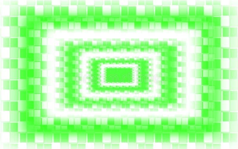 Πράσινο άσπρο υπόβαθρο μωσαϊκών - πράσινη ταπετσαρία σχεδίων τετραγώνων διανυσματική απεικόνιση