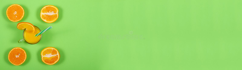 Πράσινο έμβλημα Χυμός από πορτοκάλι στοκ εικόνες