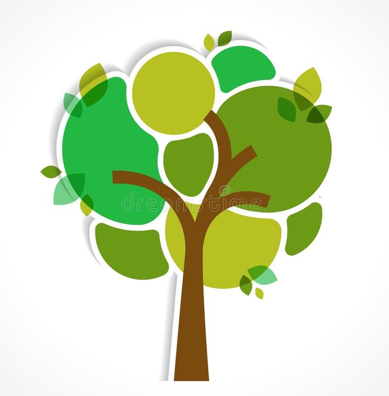 Πράσινο δέντρο - υπόβαθρο και infographics απεικόνιση αποθεμάτων