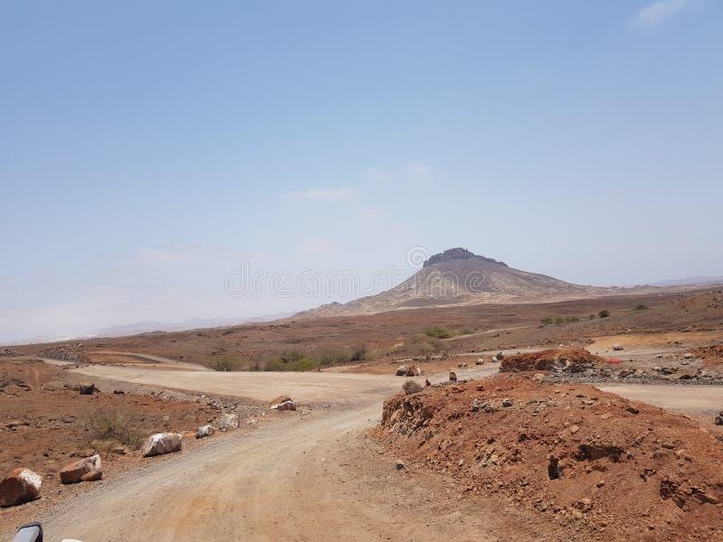 Πράσινο Ακρωτήριο, Boa Vista τοπίο στοκ εικόνα