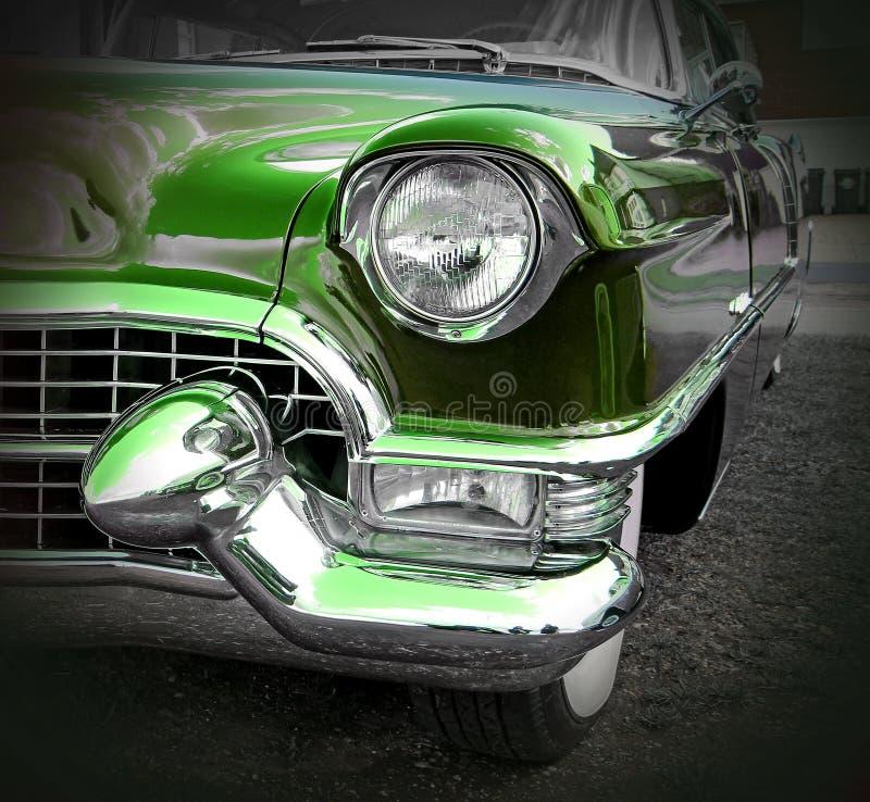 Πράσινο αμερικανικό cadillac στοκ φωτογραφία με δικαίωμα ελεύθερης χρήσης