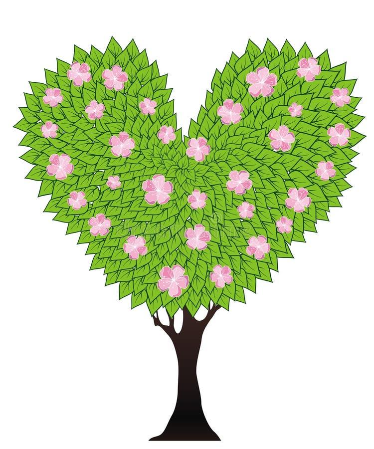 Πράσινο ανθίζοντας δέντρο απεικόνιση αποθεμάτων
