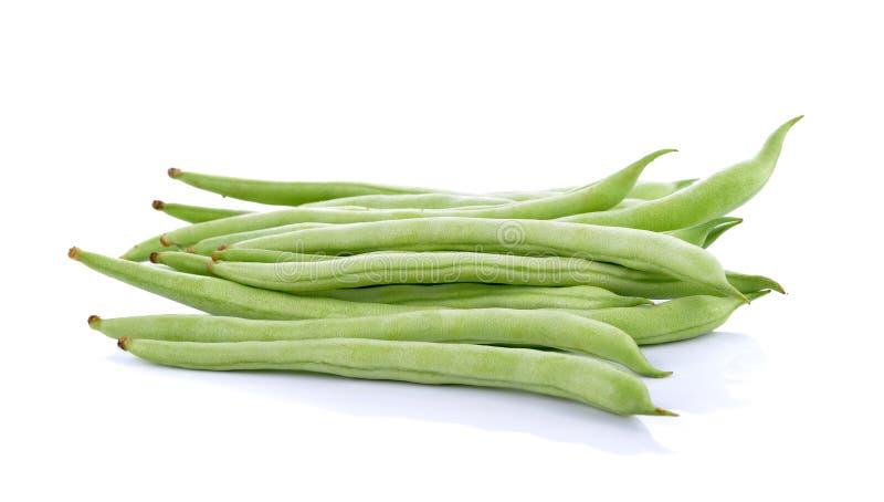 πράσινο απομονωμένο λευκό φασολιών ανασκόπησης στοκ εικόνα