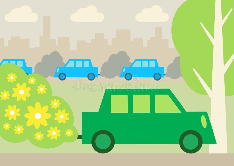 Πράσινο αυτοκίνητο 2 απεικόνιση αποθεμάτων