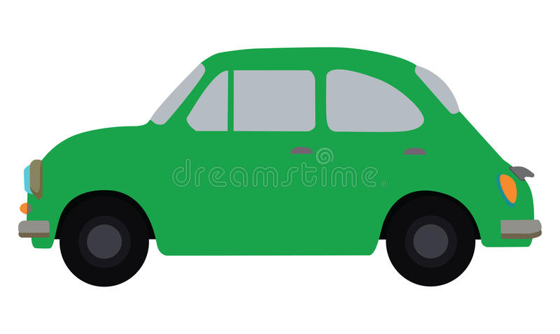 Πράσινο αυτοκίνητο διανυσματική απεικόνιση
