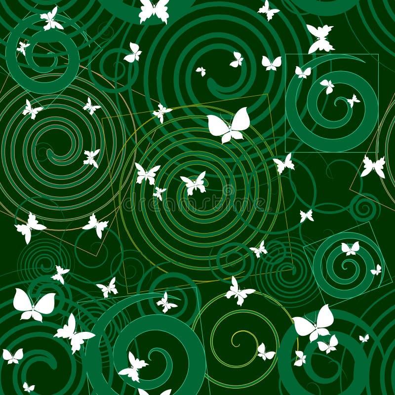 Πράσινο αφηρημένο διακοσμητικό άνευ ραφής σχέδιο Γεωμετρική διανυσματική ΤΣΕ διανυσματική απεικόνιση