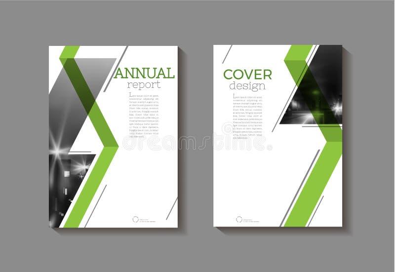 Πράσινο αφηρημένο σύγχρονο πρότυπο φυλλάδιων βιβλίων κάλυψης, σχέδιο απεικόνιση αποθεμάτων