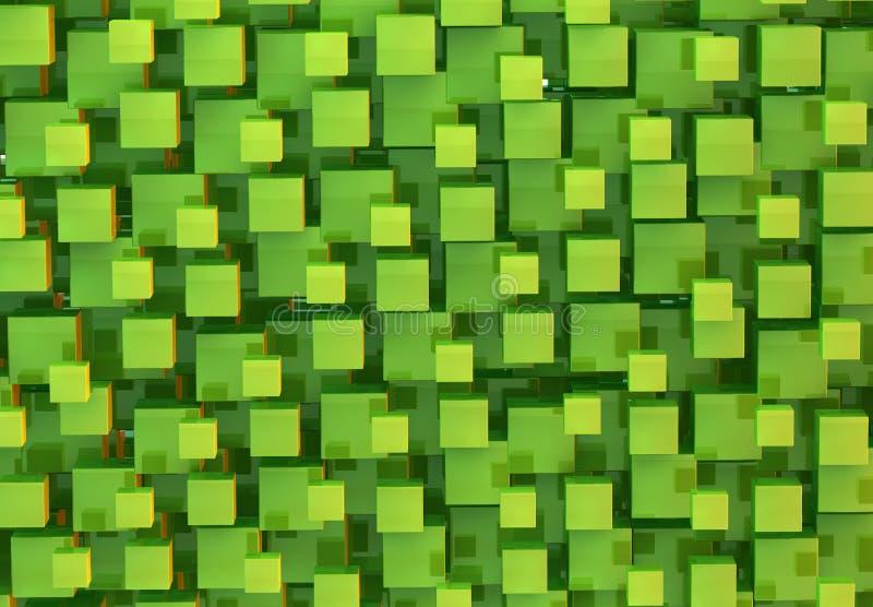 Πράσινο αφηρημένο υπόβαθρο κύβων διανυσματική απεικόνιση