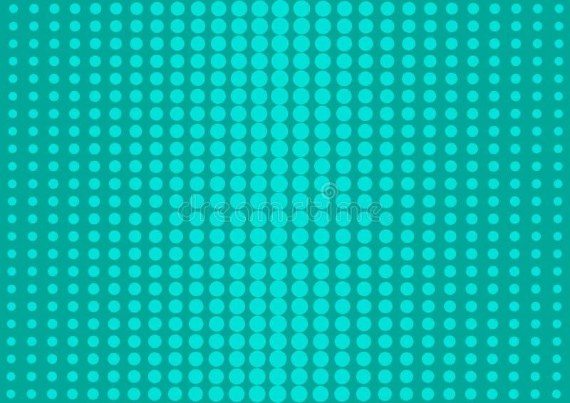 Πράσινο αφηρημένο υπόβαθρο με τα ημίτοά σημεία στο λαϊκό ύφος τέχνης r απεικόνιση αποθεμάτων