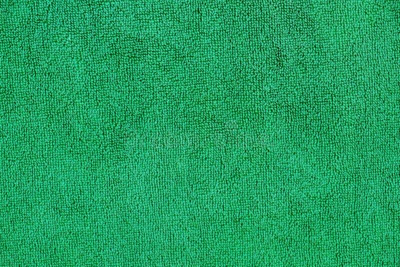 Πράσινο βαμβακιού υπόβαθρο σύστασης πετσετών στενό επάνω στοκ εικόνες με δικαίωμα ελεύθερης χρήσης