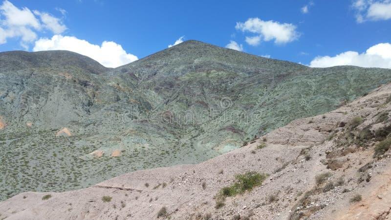 Πράσινο βουνό στο purmamarca, Αργεντινή στοκ φωτογραφίες με δικαίωμα ελεύθερης χρήσης