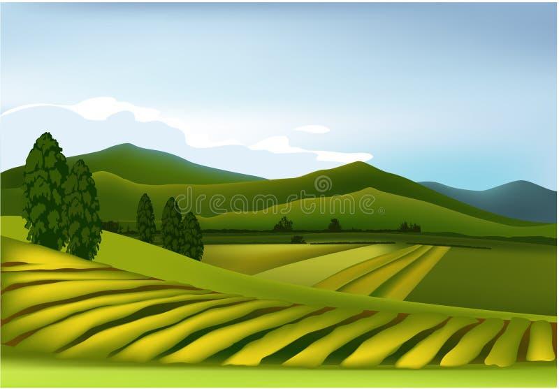 πράσινο βουνό τοπίων απεικόνιση αποθεμάτων