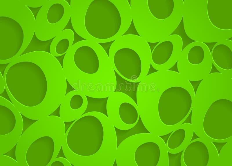 Πράσινο γεωμετρικό αφηρημένο υπόβαθρο εγγράφου απεικόνιση αποθεμάτων