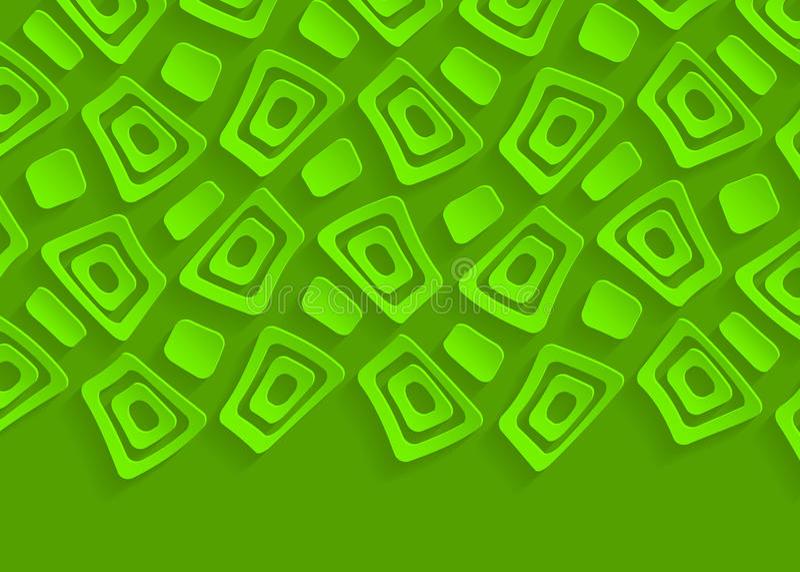 Πράσινο γεωμετρικό πρότυπο υποβάθρου σχεδίων αφηρημένο ελεύθερη απεικόνιση δικαιώματος