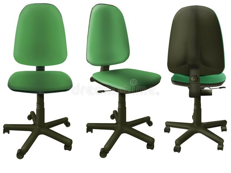 πράσινο γραφείο 3 εδρών ελεύθερη απεικόνιση δικαιώματος