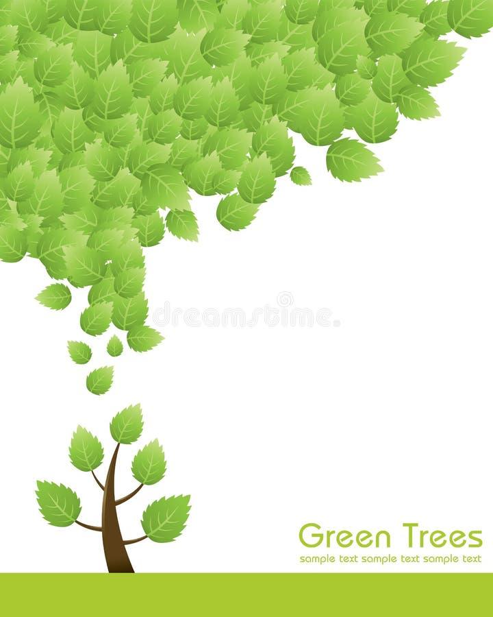 πράσινο δέντρο έννοιας διανυσματική απεικόνιση