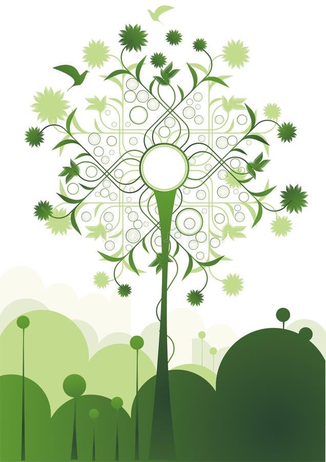 πράσινο δέντρο λιβαδιών απ&eps ελεύθερη απεικόνιση δικαιώματος