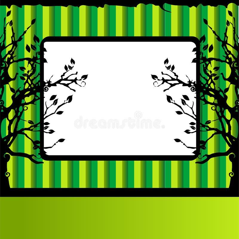 πράσινο δέντρο σκιαγραφιώ&nu απεικόνιση αποθεμάτων