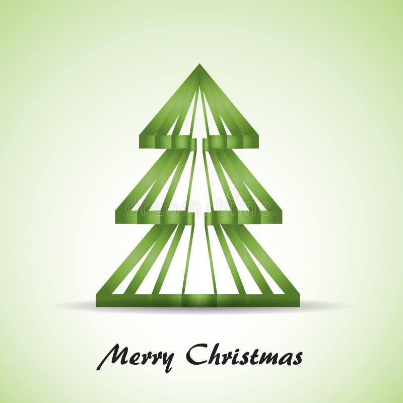 πράσινο δέντρο Χριστουγέννων απεικόνιση αποθεμάτων