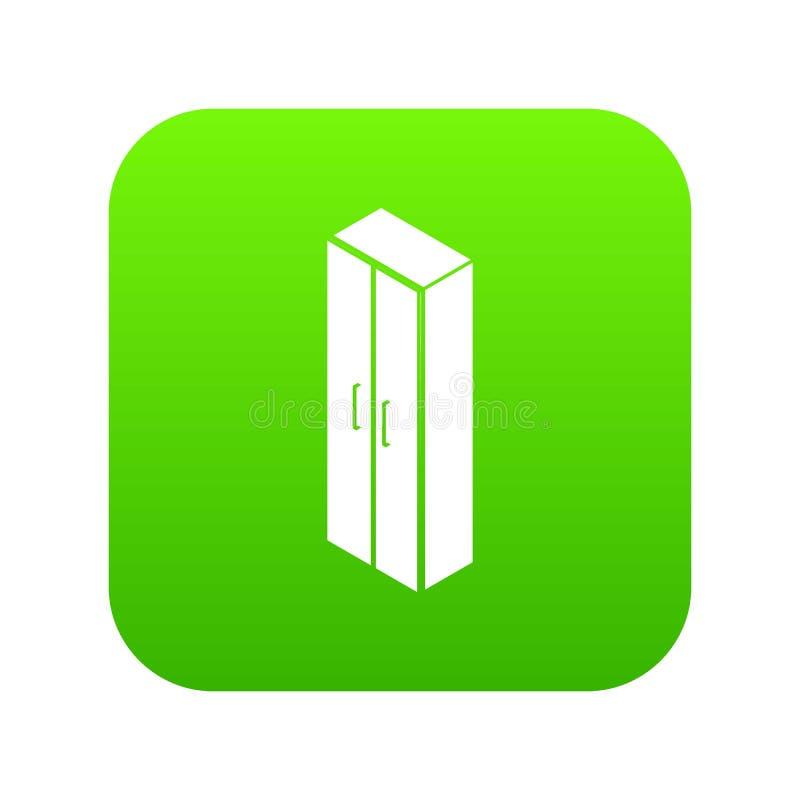 Πράσινο διάνυσμα εικονιδίων ντουλαπών ελεύθερη απεικόνιση δικαιώματος