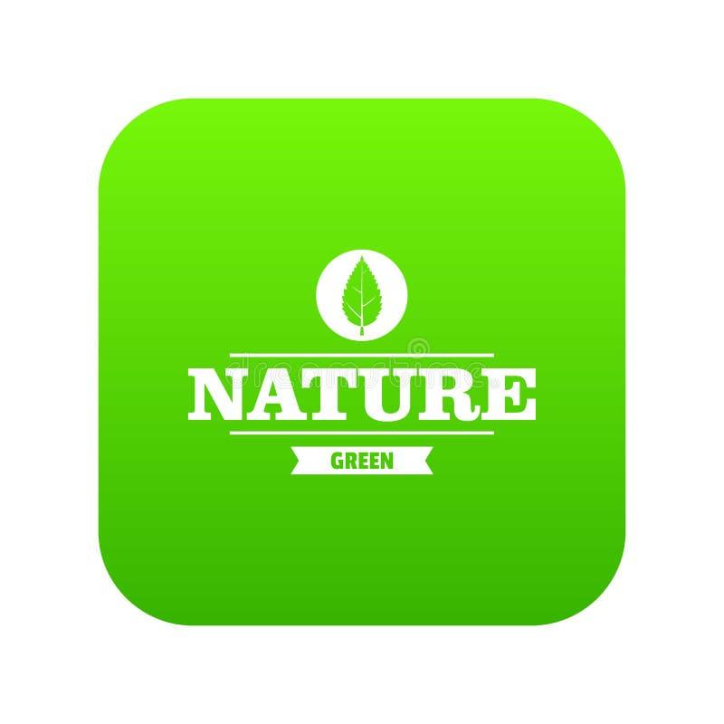 Πράσινο διάνυσμα εικονιδίων πρασίνων Eco διανυσματική απεικόνιση