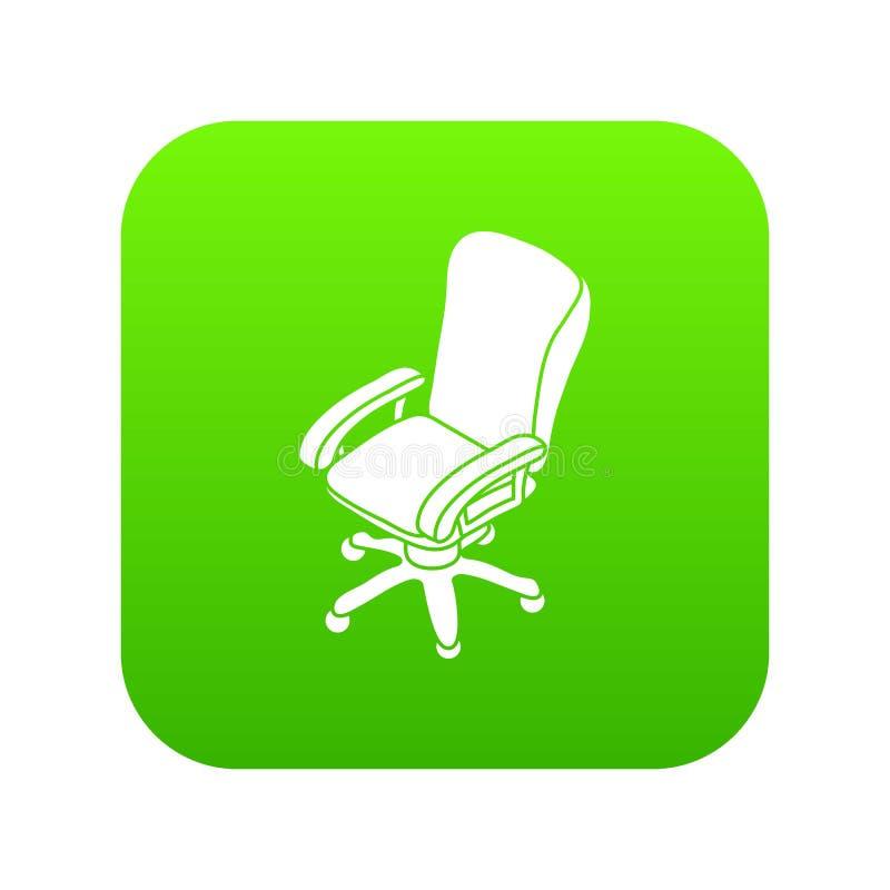 Πράσινο διάνυσμα εικονιδίων ροδών καρεκλών γραφείων διανυσματική απεικόνιση