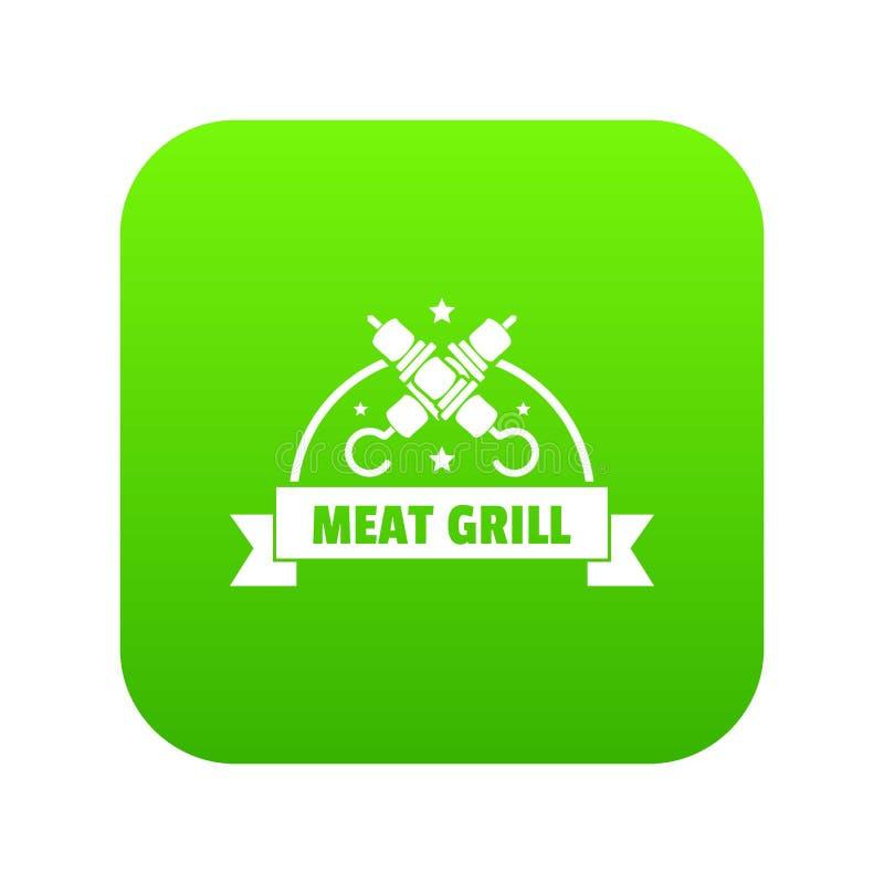 Πράσινο διάνυσμα εικονιδίων σχαρών κρέατος ελεύθερη απεικόνιση δικαιώματος