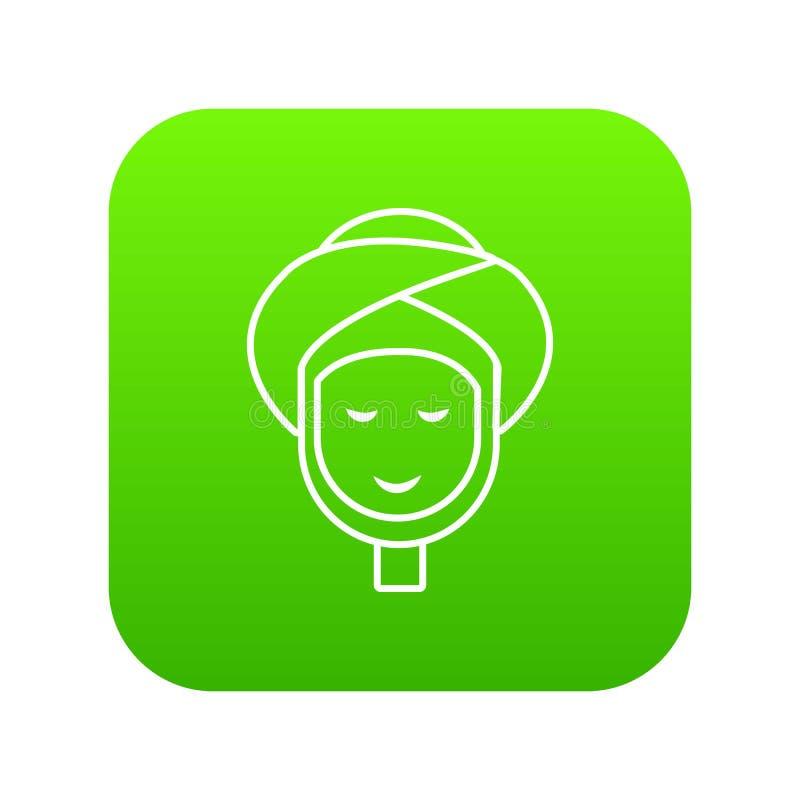 Πράσινο διάνυσμα εικονιδίων Facial spa επεξεργασίας διανυσματική απεικόνιση