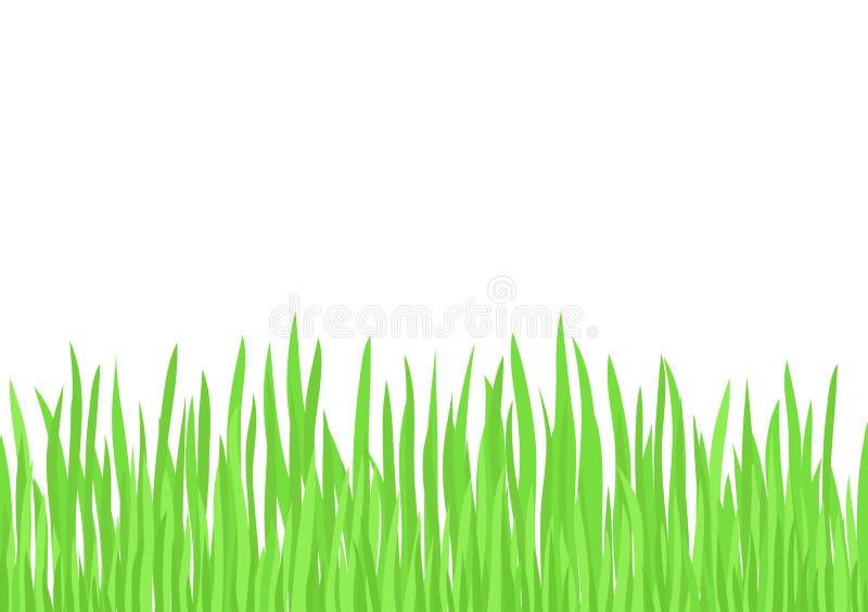 πράσινο διάνυσμα χλόης διανυσματική απεικόνιση