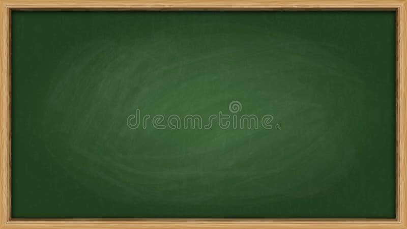 Πράσινο διάστημα αντιγράφων πινάκων κιμωλίας πλακών διανυσματική απεικόνιση
