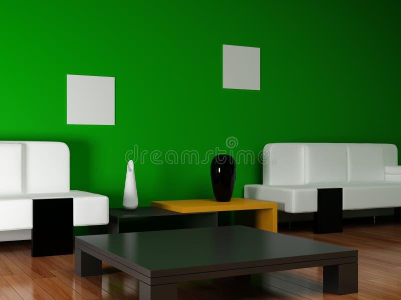 πράσινο δωμάτιο επίπλων απεικόνιση αποθεμάτων