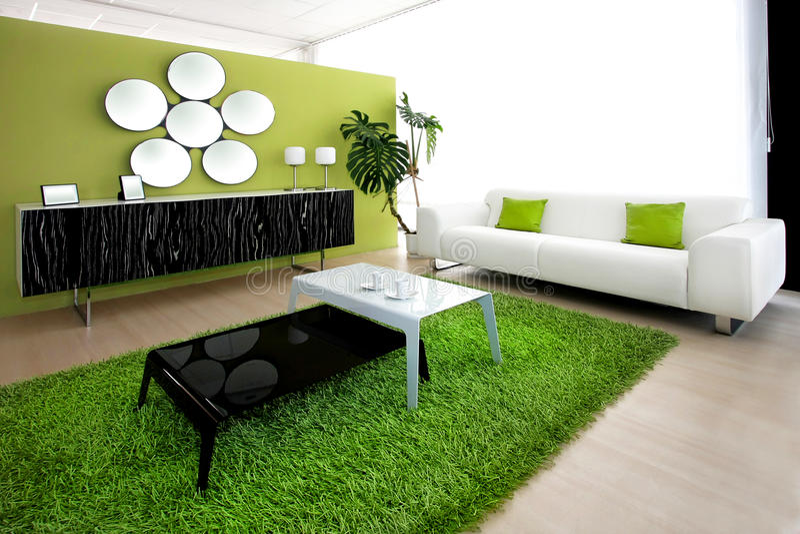 πράσινο δωμάτιο στοκ εικόνα