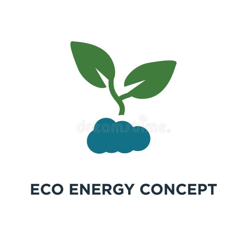 πράσινο εικονίδιο ενεργειακής έννοιας eco ανάπτυξη εγκαταστάσεων μέσα στο ελαφρύ Bu ελεύθερη απεικόνιση δικαιώματος