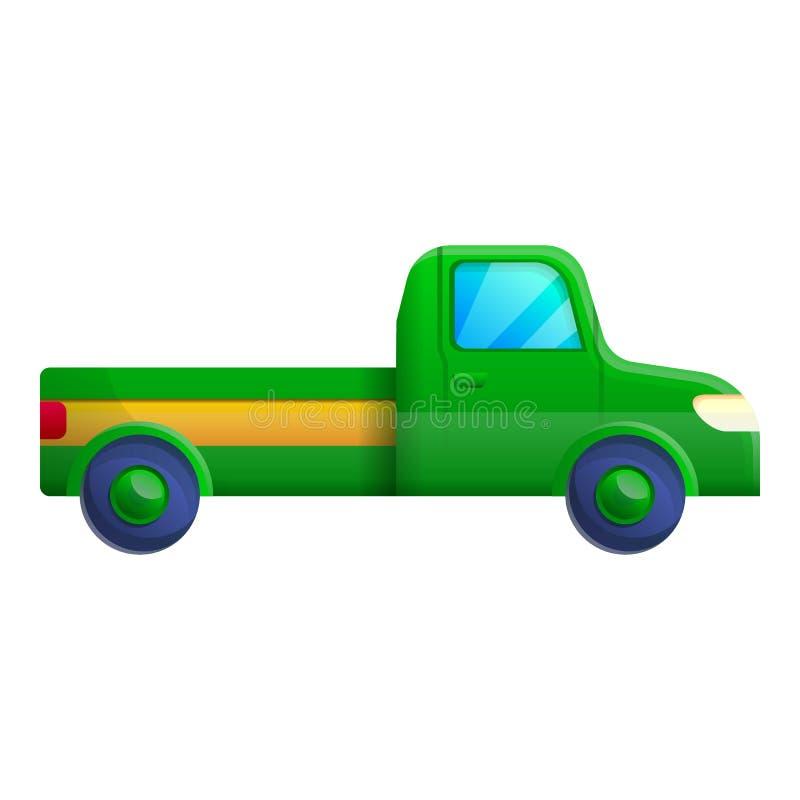 Πράσινο εικονίδιο επαναλείψεων, ύφος κινούμενων σχεδίων απεικόνιση αποθεμάτων
