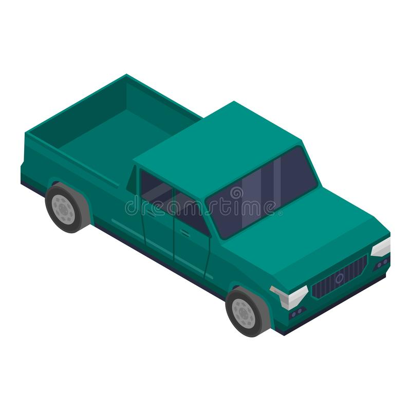 Πράσινο εικονίδιο επαναλείψεων, isometric ύφος διανυσματική απεικόνιση