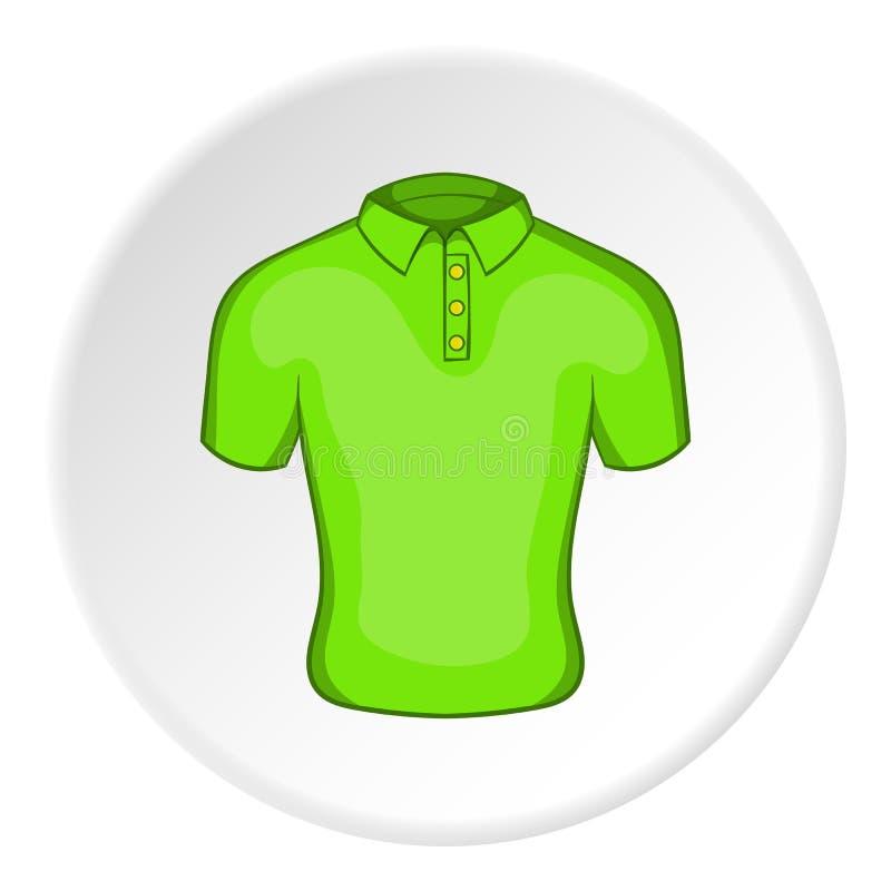 Πράσινο εικονίδιο πόλο ατόμων, ύφος κινούμενων σχεδίων απεικόνιση αποθεμάτων
