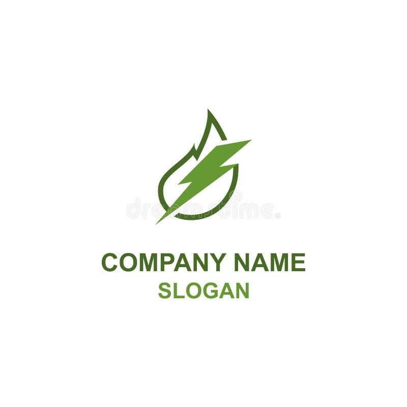 Πράσινο ενεργειακό λογότυπο φύλλων διανυσματική απεικόνιση