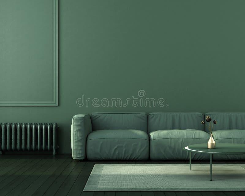 Πράσινο εσωτερικό του καθιστικού απεικόνιση αποθεμάτων