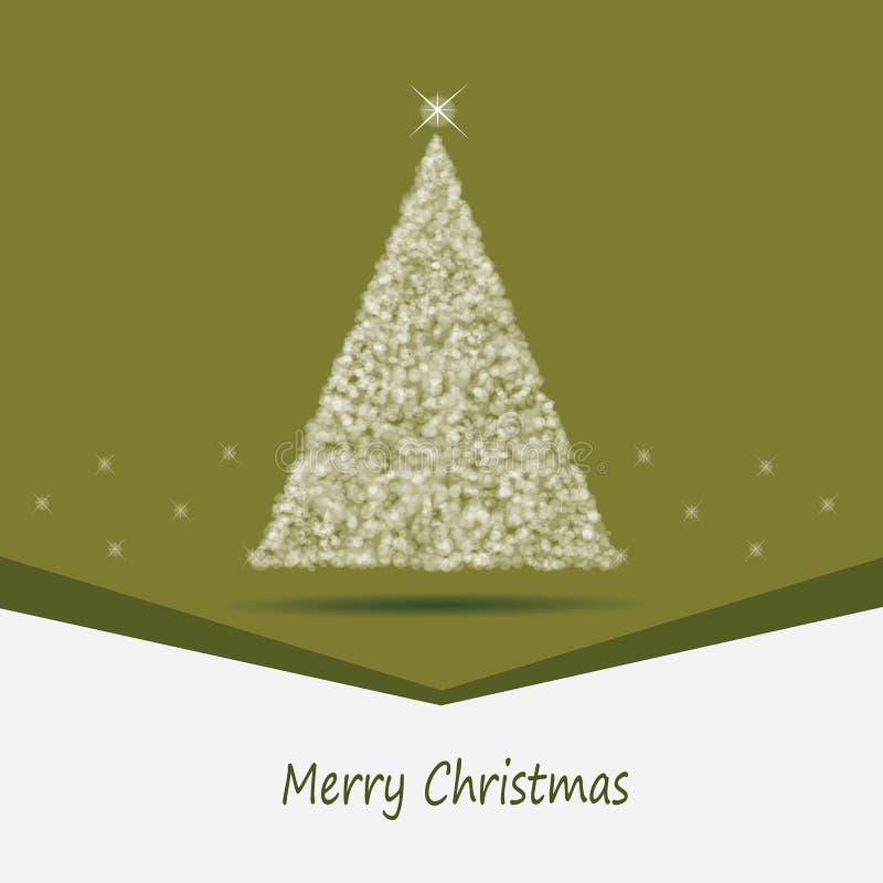 πράσινο θέμα Χριστουγέννων καρτών απεικόνιση αποθεμάτων