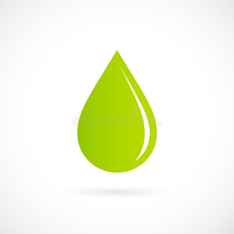 Πράσινο διανυσματικό εικονίδιο πτώσης απεικόνιση αποθεμάτων