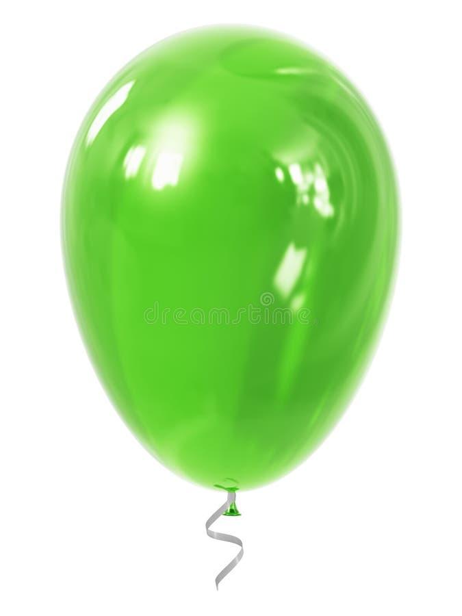 Πράσινο διογκώσιμο μπαλόνι αέρα διανυσματική απεικόνιση