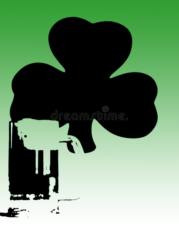 πράσινο ιρλανδικό τριφύλλ&io διανυσματική απεικόνιση