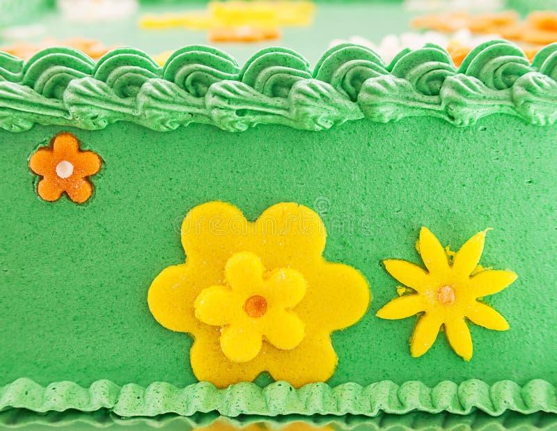 Πράσινο κέικ τομέων στοκ εικόνες
