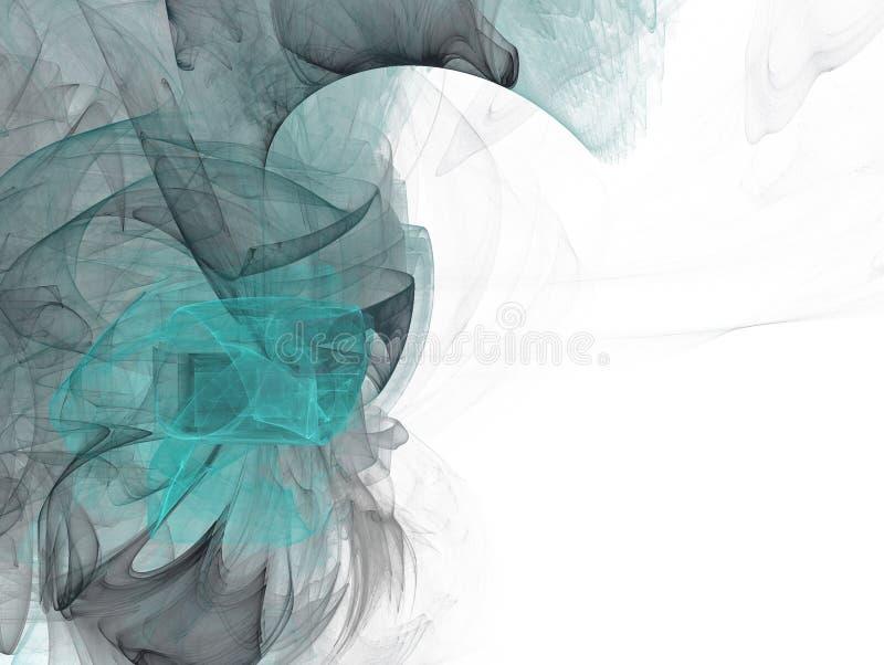Πράσινο και γκρίζο fractal κυμάτων ελεύθερη απεικόνιση δικαιώματος