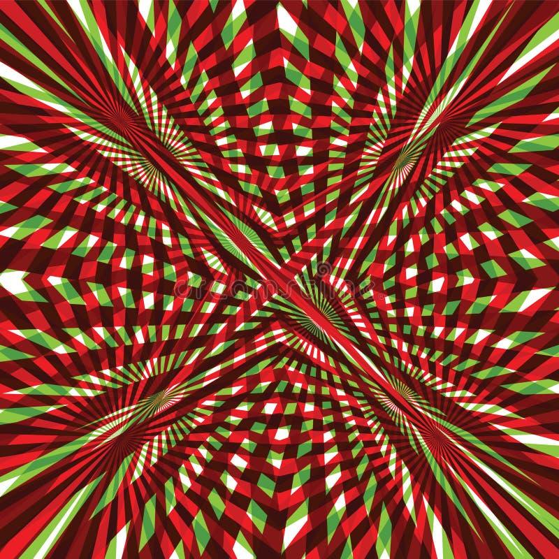 Πράσινο και κόκκινο αφηρημένο υπόβαθρο γραμμών ελεύθερη απεικόνιση δικαιώματος