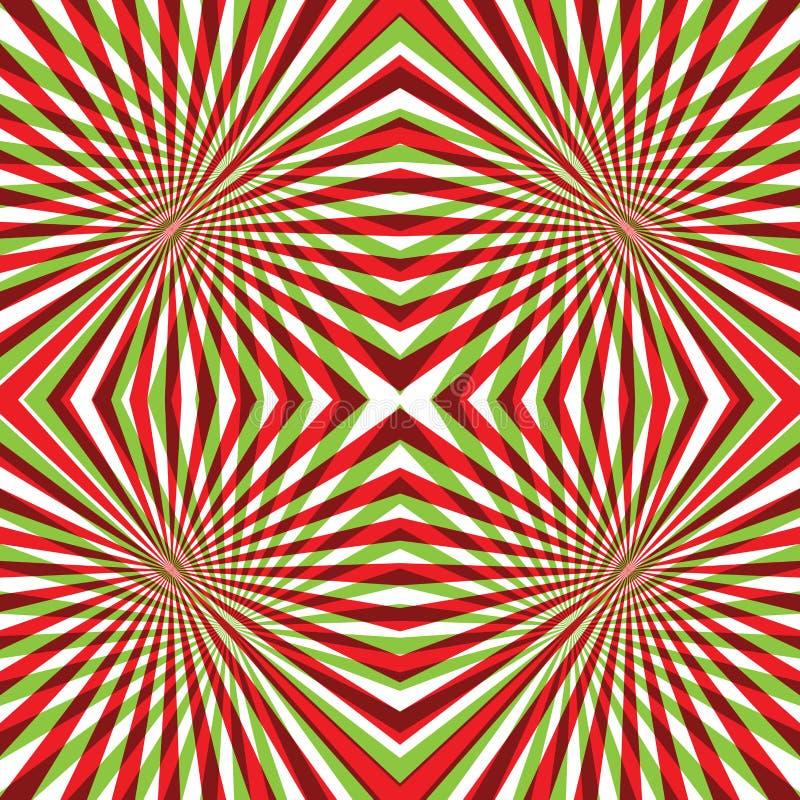 Πράσινο και κόκκινο αφηρημένο υπόβαθρο γραμμών διανυσματική απεικόνιση