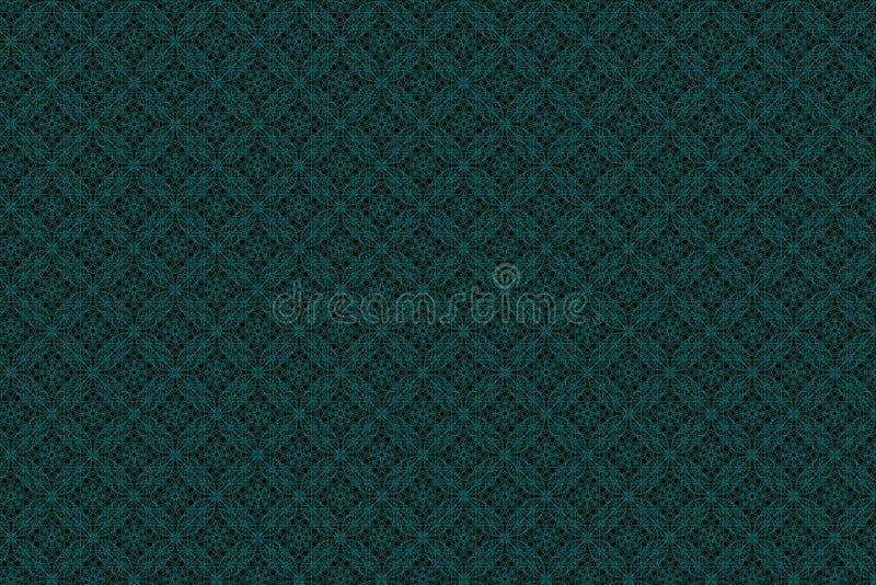 Πράσινο και μαύρο έργο τέχνης απεικόνισης όπως το απόθεμα υποβάθρου ταπετσαριών σύστασης σχεδίου σχεδίων υφασμάτων στοκ εικόνες με δικαίωμα ελεύθερης χρήσης